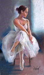 La Joven Bailarina IV by Domingo -  sized 13x8 inches. Available from Whitewall Galleries